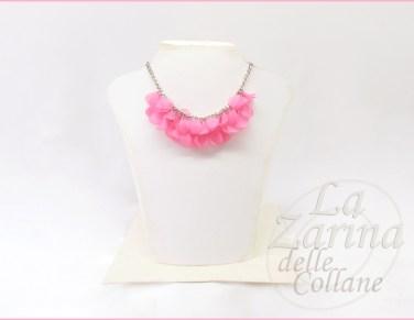 collana con pendolini rosa primavera