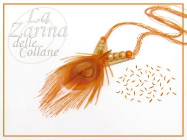 Collana Tangerine Piuma