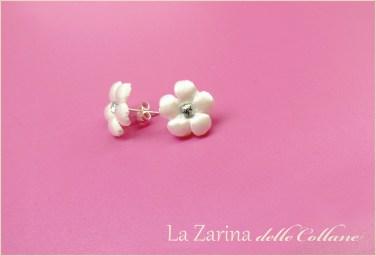 orecchini a fiore sposa
