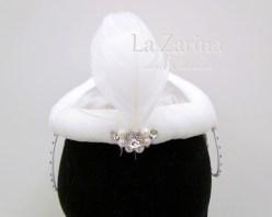 cappellino diadema biando fatto a mano raymonda