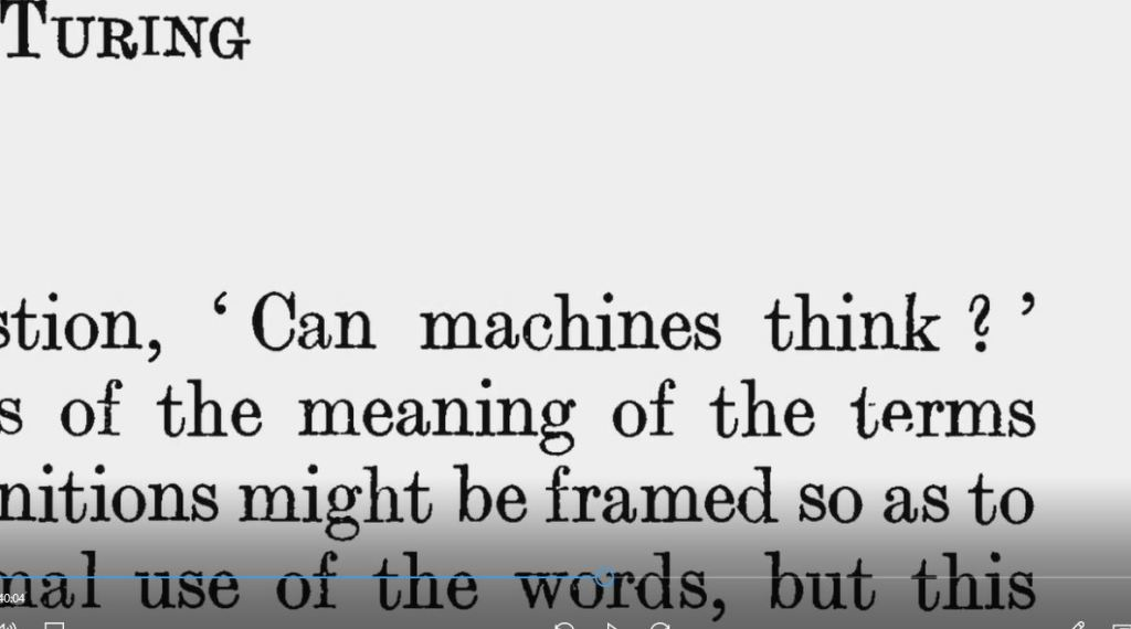 Can Machines Think