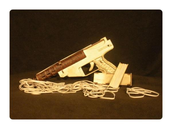 Wood Model Widow Maker Rubber Band Gun Kit By-LazerModels