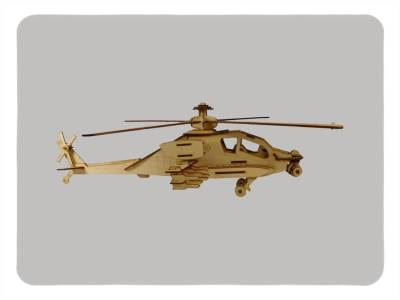 Wood Model Kit Apache By-LazerModels