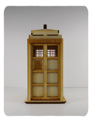 Wood Model Blue Box (Tardis) Kit By-LazerModels