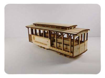 Wood Model Cable Car Kit By-LazerModels