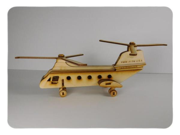 Wood Model Chinook Kit By-LazerModels