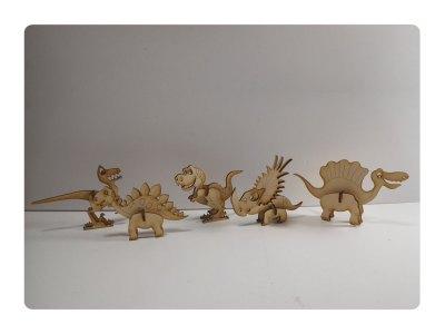 Dino Kit Wood Model