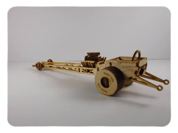 Wood Model Dragster Kit By-LazerModels