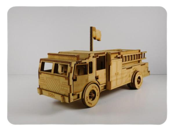 Wood Model Fire Truck Kit By-LazerModels