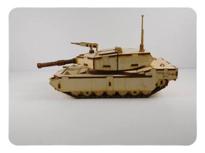 Wood Model M1 Abrams Tank Kit By-LazerModels