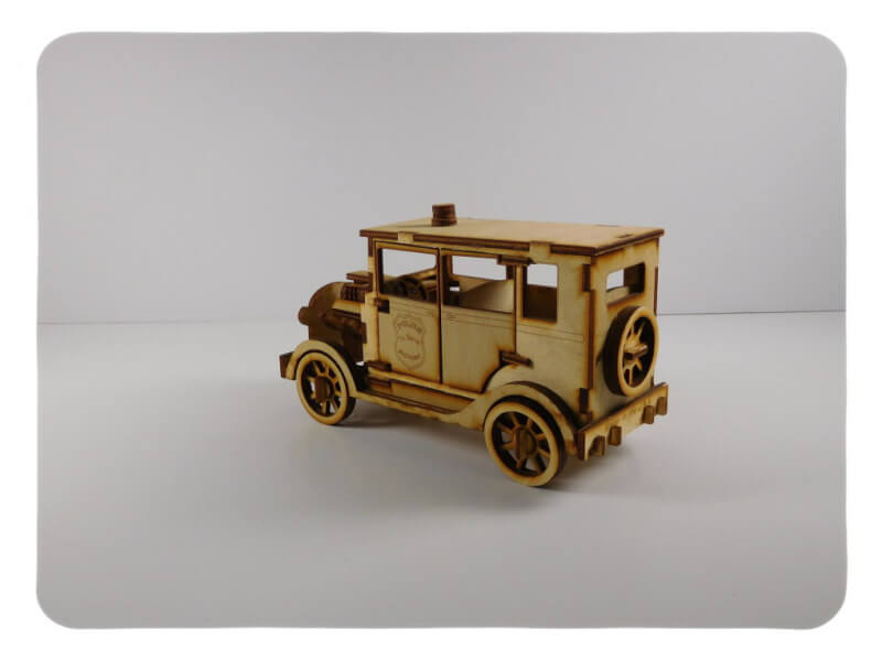 Wood Model Police Car Kit Deal By-LazerModels