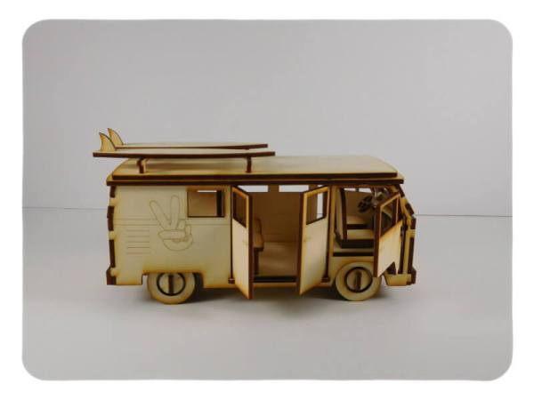 Wood Model Van Kit By-LazerModels