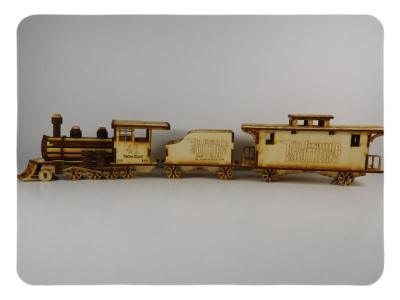 Wood Model Rio Grande Train Kit By-LazerModels