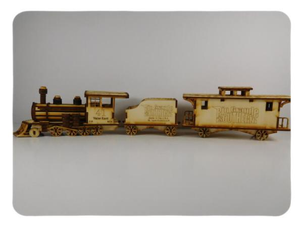 Wood Model Rio Grande Train Kit By-LazerModels