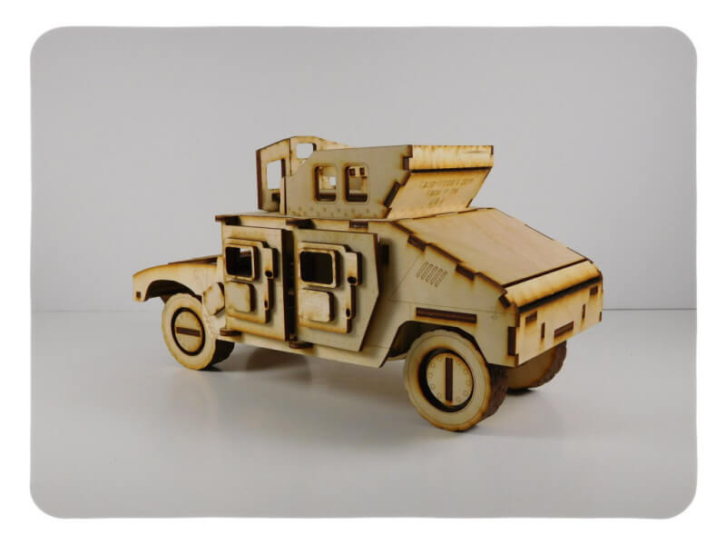 Wood Model Up Armored Humvee Kit By-LazerModels