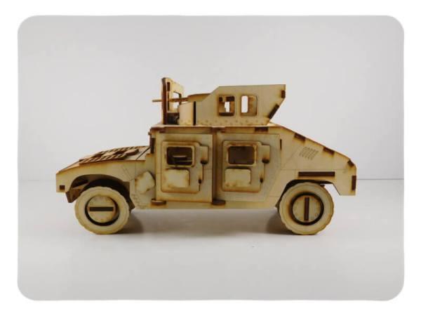 Up Armored Humvee Wood Model Kit