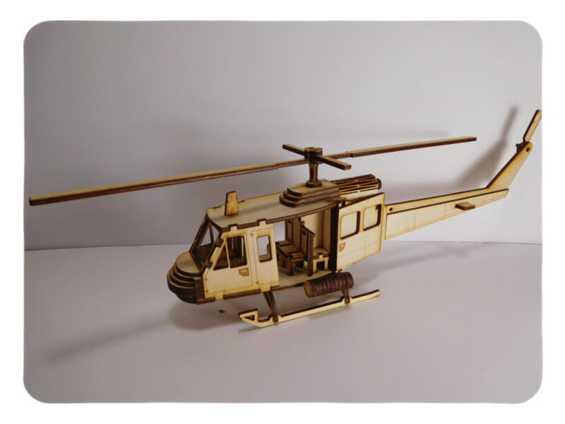 Wood Model Huey Helicopter Kit By-LazerModels