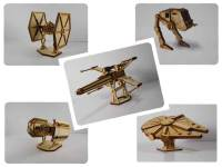 Wood Model Sci Fi Package Deal Kit By-LazerModels