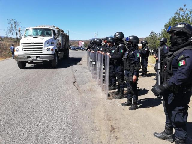 Policía de Morelia libera relleno sanitario mediante el diálogo