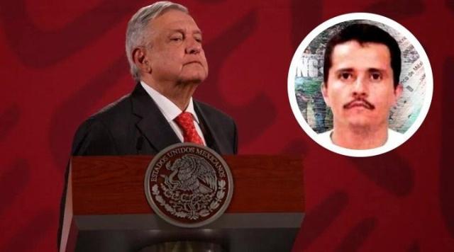 """Un rumor, la detención o muerte de """"El Mencho"""": AMLO"""