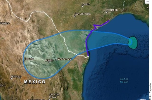 Alertan por Hanna; se esperan fuertes lluvias en 8 estados
