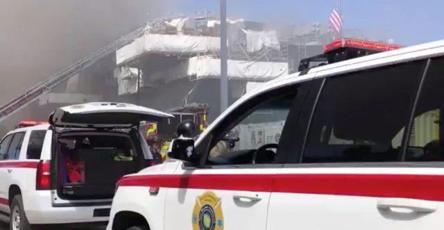 Incendio en buque de la Armada de EU en San Diego deja 18 heridos