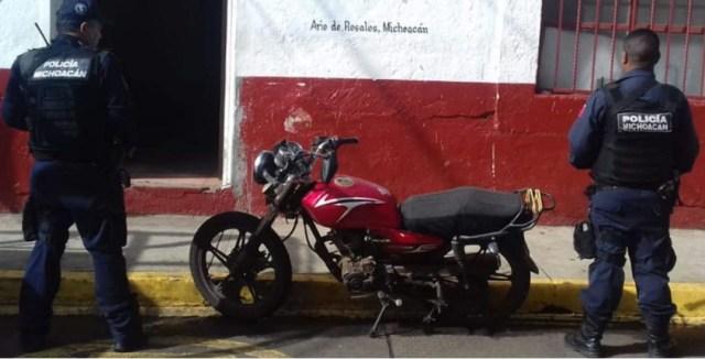 En acciones de vigilancia, recupera SSP motocicleta con reporte de robo