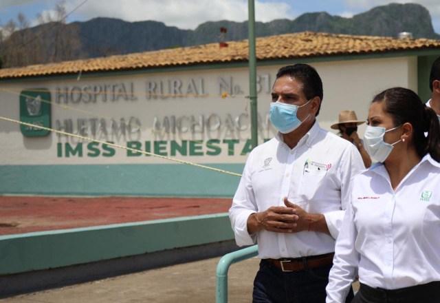 Visita Gobernador Hospital Rural del IMSS en Huetamo