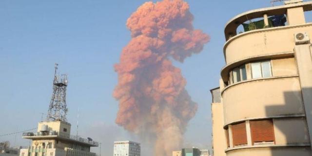 Impactante explosión en Beirut líbano deja 10 muertos