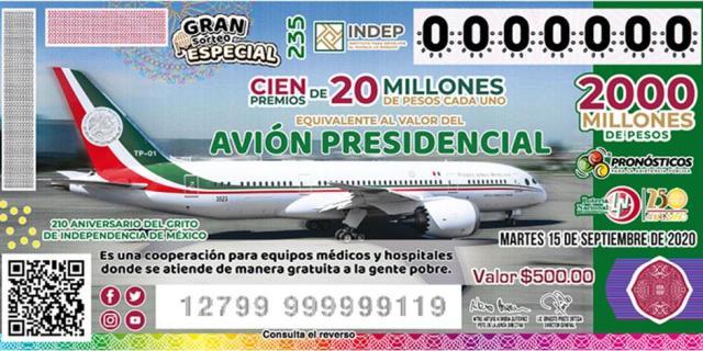 «Cachitos» de avión que no se vendan serán para el INSABI: AMLO