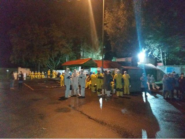 49 empleados intoxicados en fuga de amoniaco en Calavo de México