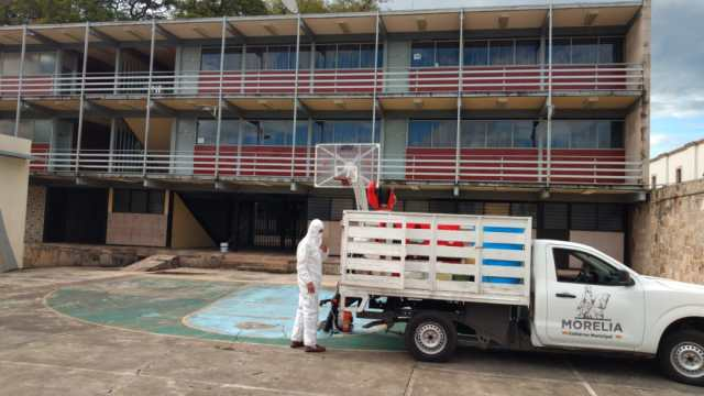 Continúa Gobierno de Morelia sanitización de espacios públicos