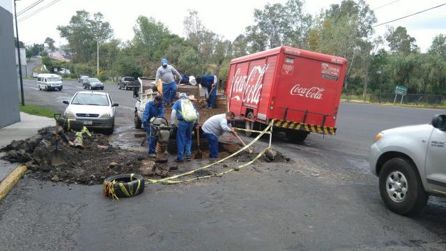 OOAPAS Morelia atiende socavones en distintos puntos de la ciudad