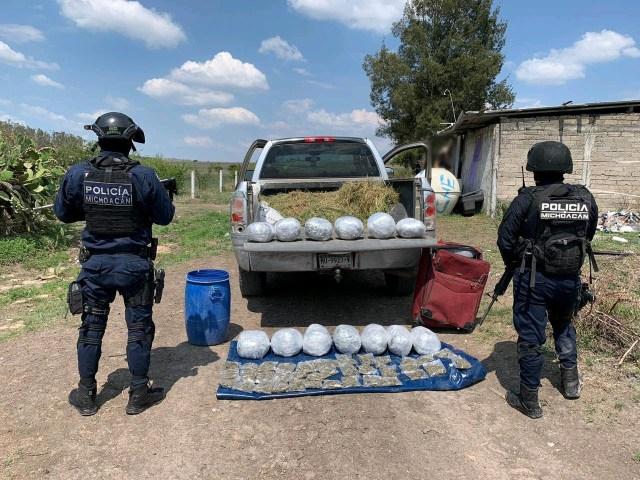 En julio, decomisó SSP 51.9 kilos de drogas en el Estado