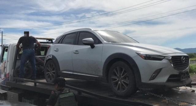 En operativo interinstitucional, se aseguraron dos vehículos en Apatzingán