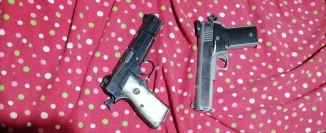 Detienen SSP, GN y Policía Municipal a dos en posesión de armas de fuego y cartuchos útiles