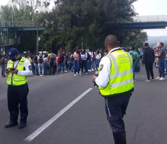 Despliega SSP dispositivo de vigilancia ante  manifestación