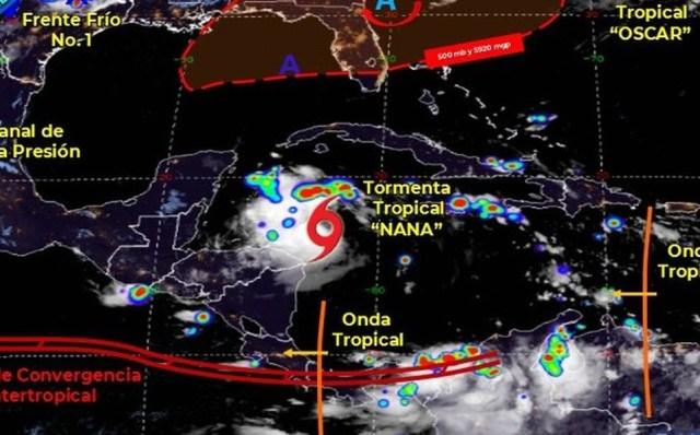 Tormenta 'Nana' provocará fuertes lluvias en 6 estados del sur