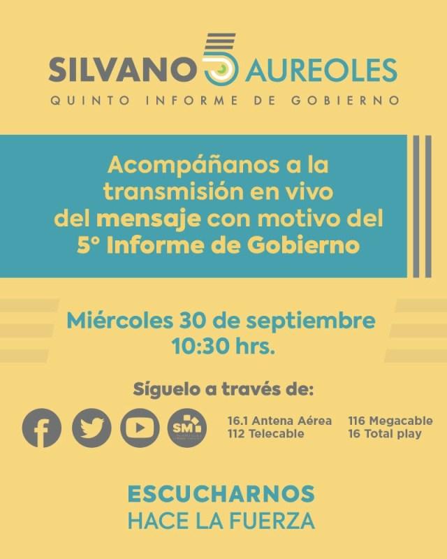 Virtual, Quinto Informe de Gobierno de Silvano Aureoles
