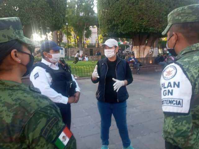 Polícia Morelia y Guardia Nacional mantienen vigilancia para evitar la propagación del COVID-19