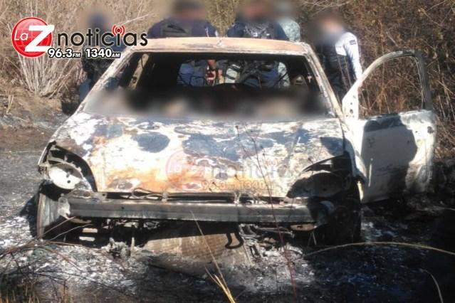 Hallan a 2 hombres muertos dentro de auto calcinado en el municipio de Morelia