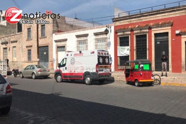 Jalisciense fallece en el Centro Histórico de Morelia