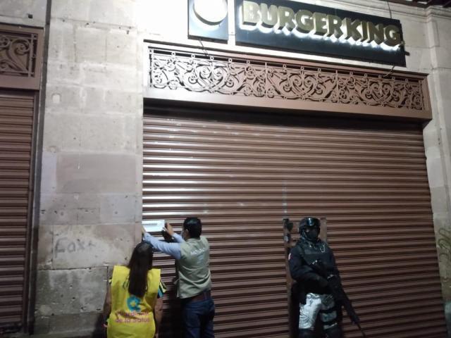 Suspenden Guardianes de la Salud 6 establecimientos en Morelia