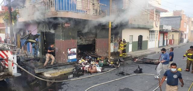 Se registra incendio de domicilio en la colonia Ramírez de Zamora
