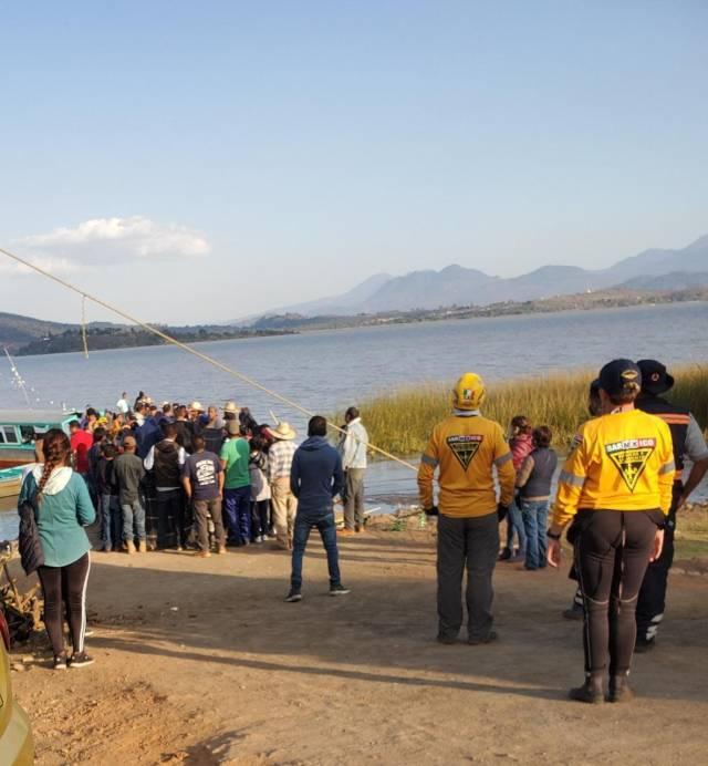 Localizan el cuerpo de la menor ahogada en el Lago de Pátzcuaro