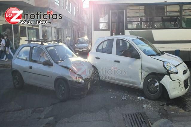 Se registra choque vehicular en la zona Centro de Zamora
