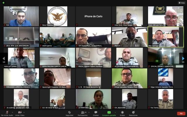 Imparte Fiscalía General capacitación en materia de Trata de Personas, a integrantes de la Guardia Nacional