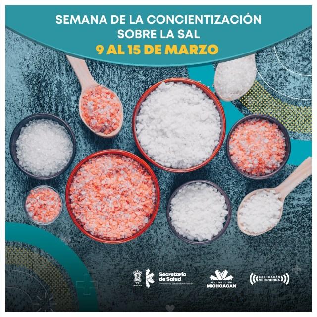 Exhorta SSM a michoacanos a reducir la ingesta de sal