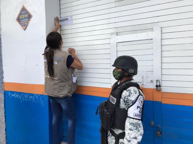 Suspenden Guardianes de la Salud nueve establecimientos en Morelia