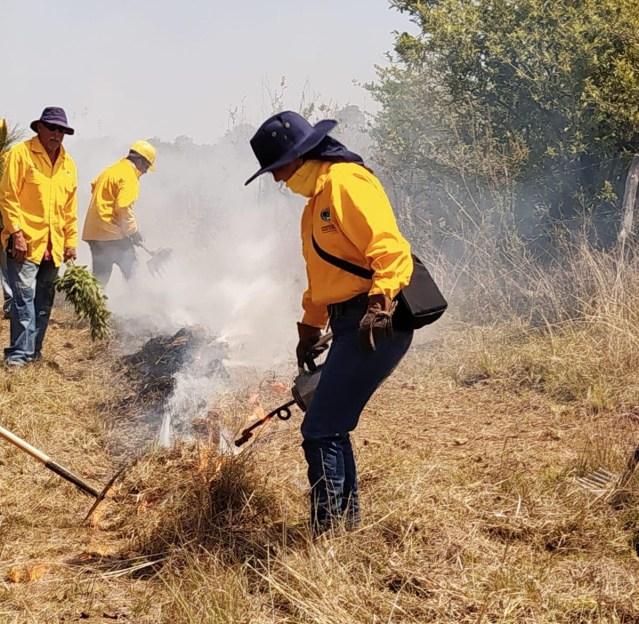 Una mujer experta en manejo del fuego coordina acciones contra incendios en el Bajío michoacano